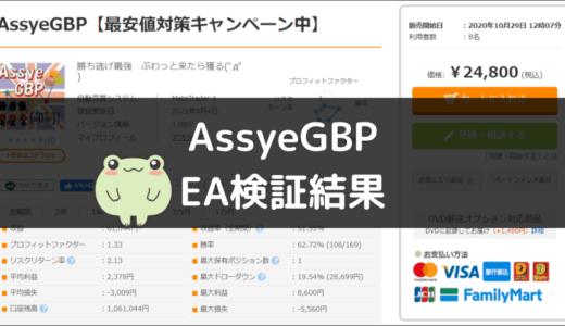 AssyeGBPのEA検証結果