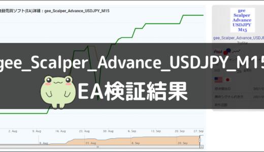 gee_Scalper_Advance_USDJPY_M15のEA検証結果