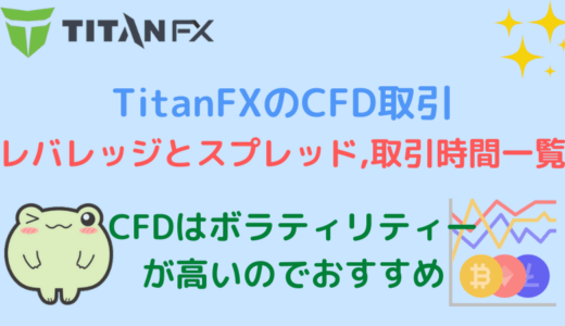 TitanFXのCFD取引(日経225やダウ30など)のレバレッジやスプレッド一覧